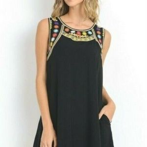 Jodifl Boutique Sleeveless Embroidered Tunic